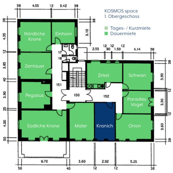 KOSMOS space   Räume zur Dauermiete   Kranich
