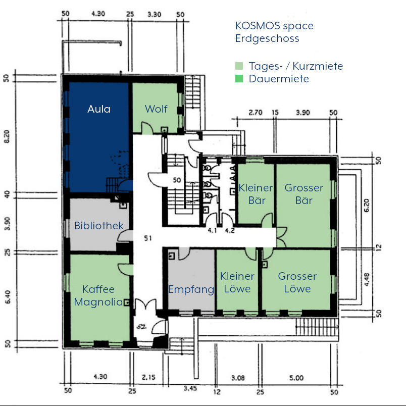 KOSMOS space   Räume zur Tages- / Kurzmiete   Aula