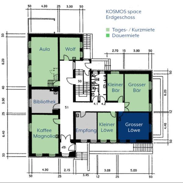 KOSMOS space | Räume zur Tages- / Kurzmiete | Grosser Löwe