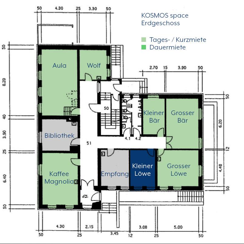KOSMOS space | Räume zur Tages- / Kurzmiete | Kleiner Löwe